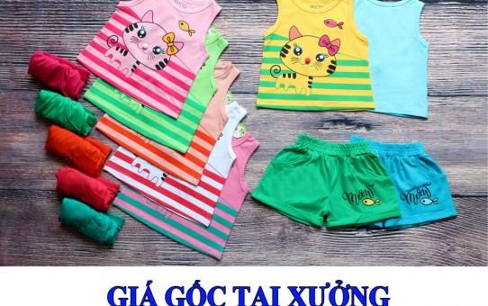 Xưởng may quần áo trẻ em xuất khẩu giá gốc - bộ sọt mèo nơ xinh xắn 4