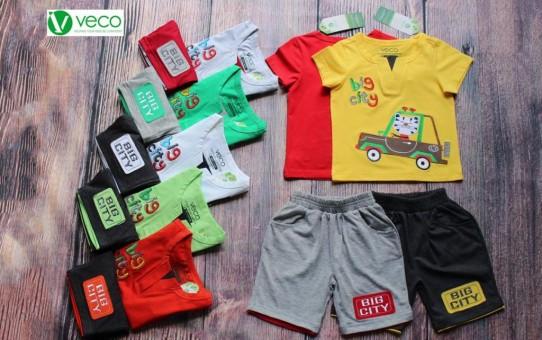 xưởng may quần áo trẻ em xuất khẩu VECO - bộ thun nam hổ lái xe (1)