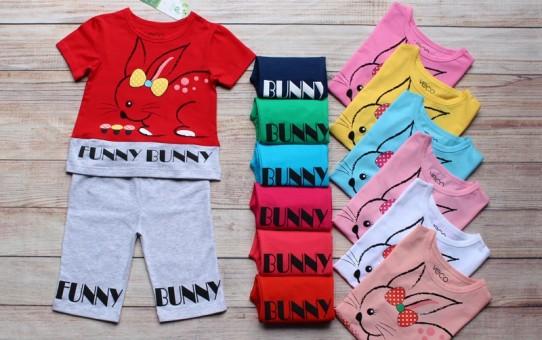 Xưởng may quần áo trẻ em giá sỉ VECO - bộ lửng thỏ nấm (2)
