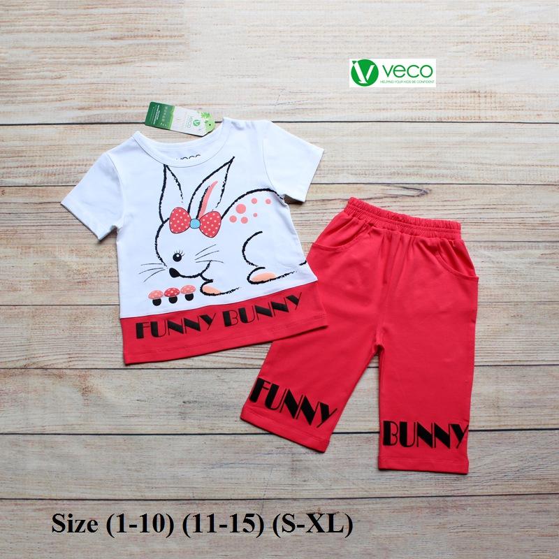 Xưởng may quần áo trẻ em giá sỉ VECO - bộ lửng thỏ nấm (3)