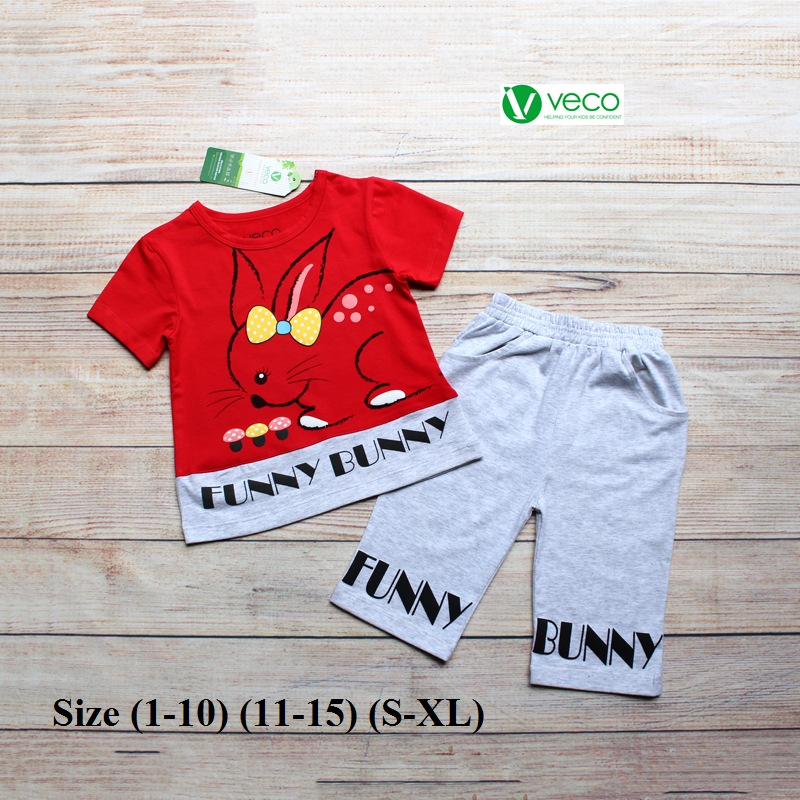 Xưởng may quần áo trẻ em giá sỉ VECO - bộ lửng thỏ nấm (4)