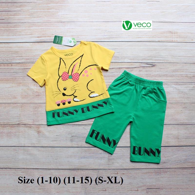 Xưởng may quần áo trẻ em giá sỉ VECO - bộ lửng thỏ nấm (6)