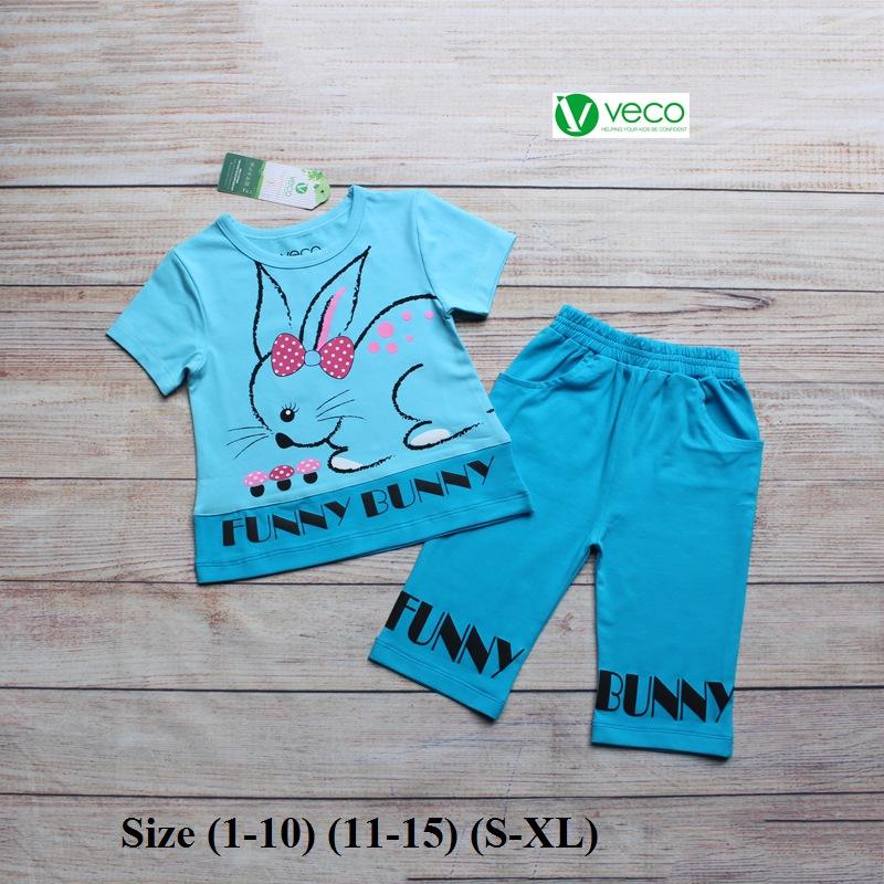 Xưởng may quần áo trẻ em giá sỉ VECO - bộ lửng thỏ nấm (7)