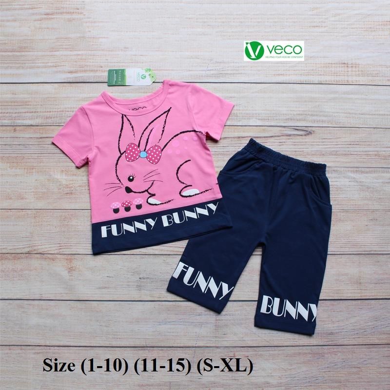 Xưởng may quần áo trẻ em giá sỉ VECO - bộ lửng thỏ nấm (8)
