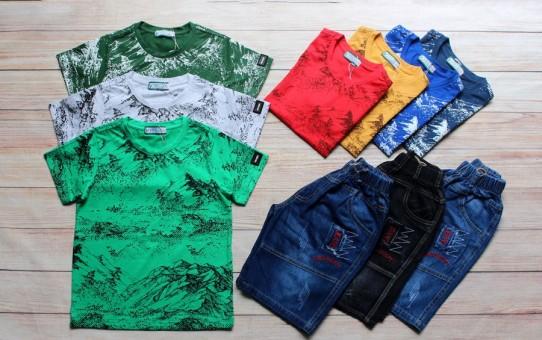 xưởng may quần áo trẻ em giá sỉ VECO - Bộ jean nam cá tính cho bé 50kg (2)
