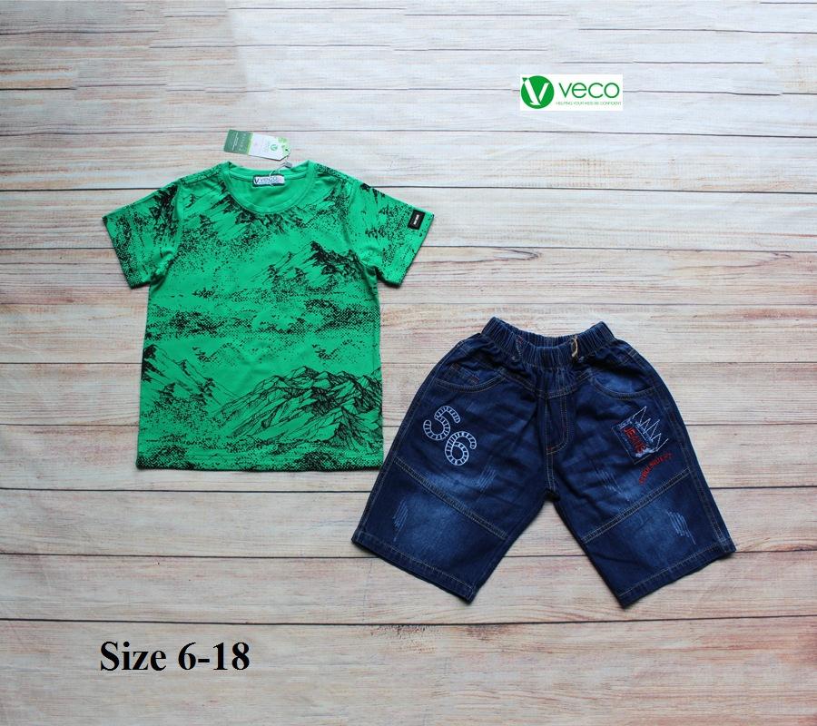 xưởng may quần áo trẻ em giá sỉ VECO - Bộ jean nam cá tính cho bé 50kg (7)