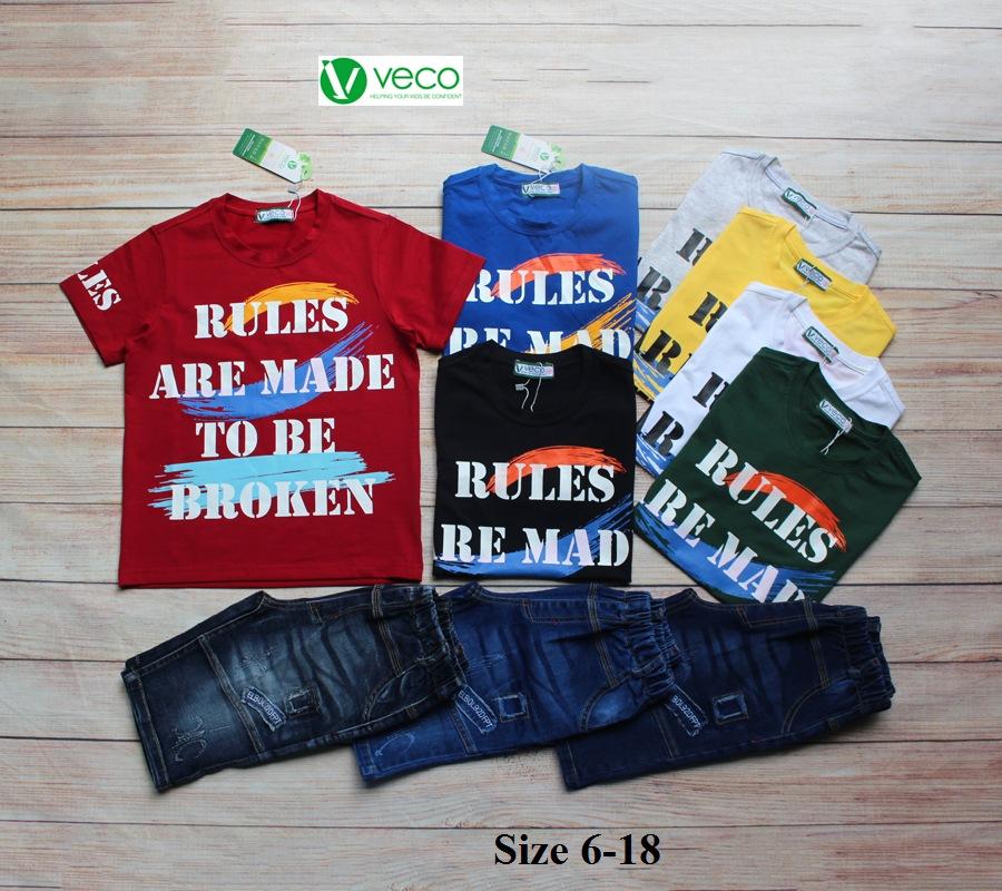 xưởng may quần áo trẻ em giá sỉ VECO - bộ jean nam Rules 50kg (1)