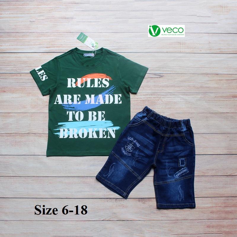 xưởng may quần áo trẻ em giá sỉ VECO - bộ jean nam Rules 50kg (2)