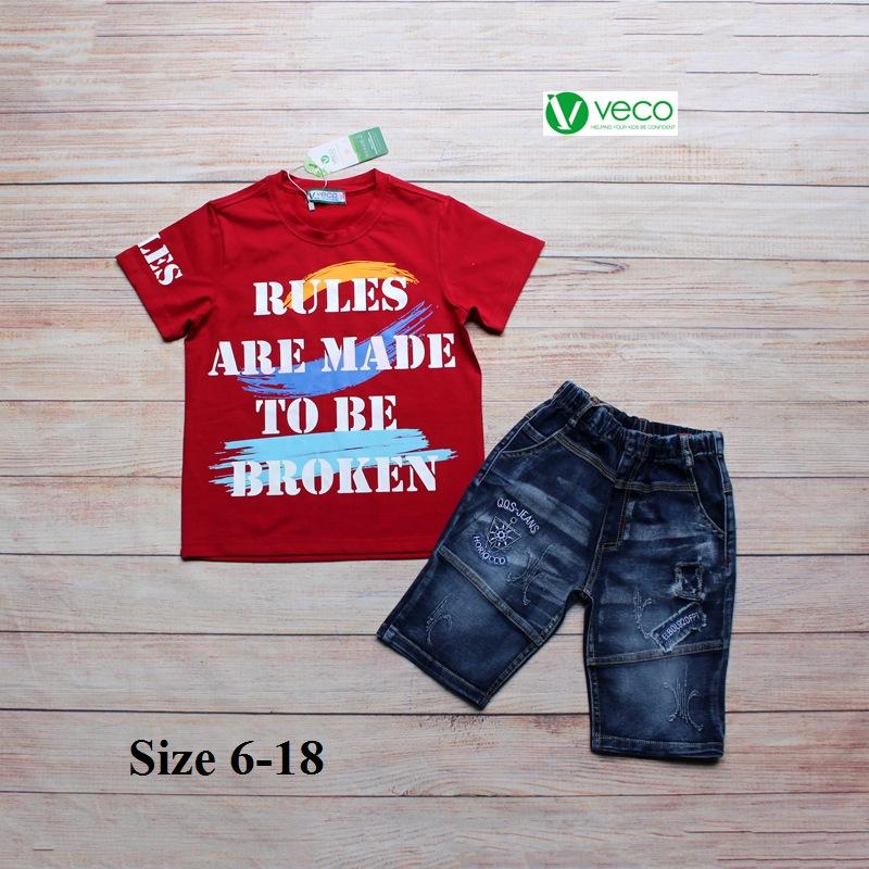 xưởng may quần áo trẻ em giá sỉ VECO - bộ jean nam Rules 50kg (3)
