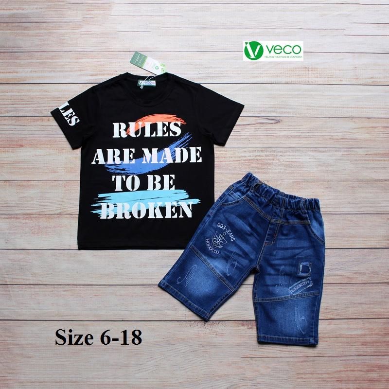 xưởng may quần áo trẻ em giá sỉ VECO - bộ jean nam Rules 50kg (4)