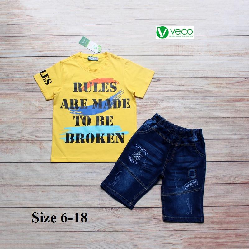 xưởng may quần áo trẻ em giá sỉ VECO - bộ jean nam Rules 50kg (6)
