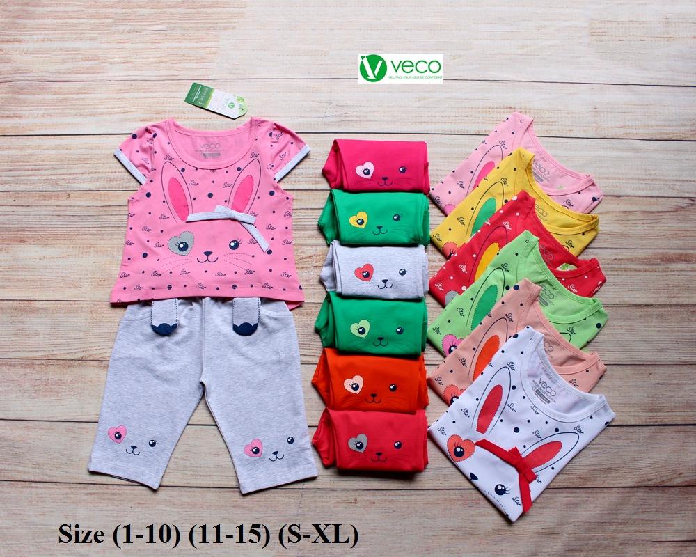 xưởng may quần áo trẻ em giá sỉ VECO - bộ lửng thỏ star dễ thương (9)