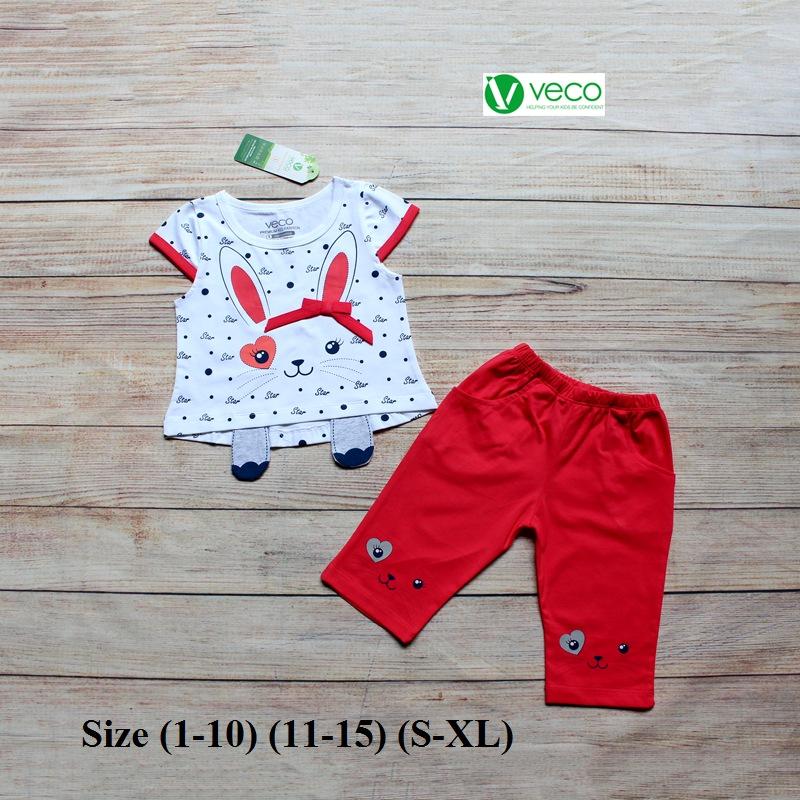 xưởng may quần áo trẻ em giá sỉ VECO - bộ lửng thỏ star dễ thương (8)