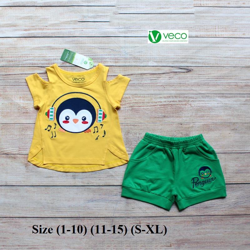 xưởng may quần áo trẻ em giá sỉ VECO - bộ sọt chim cánh cụt tai phone (1)