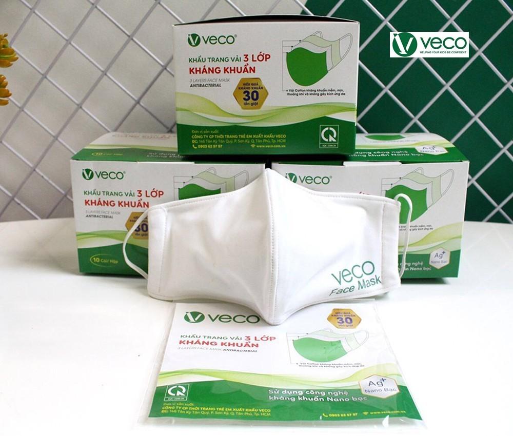 Khẩu trang vải kháng khuẩn Veco